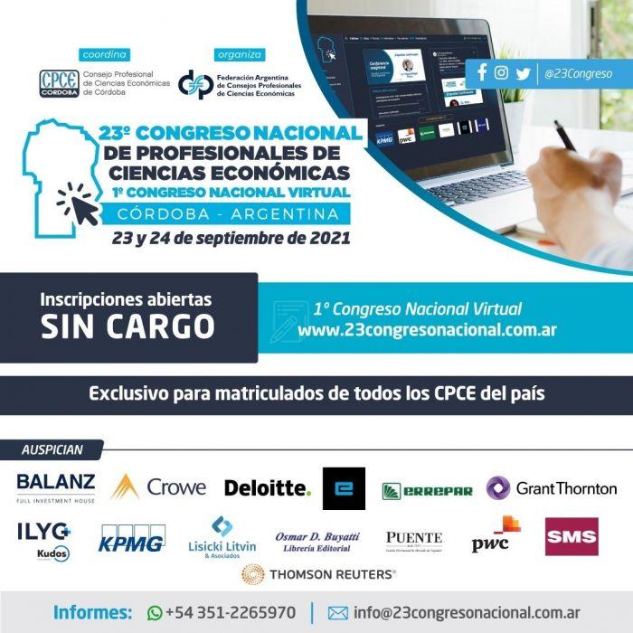 Abierta la inscripción al 23º Congreso Nacional de Profesionales de Ciencias Económicas